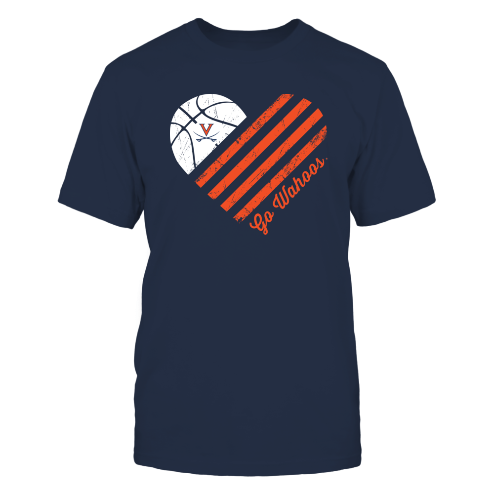 Virginia Cavaliers - Basketball Flag Heart Front picture