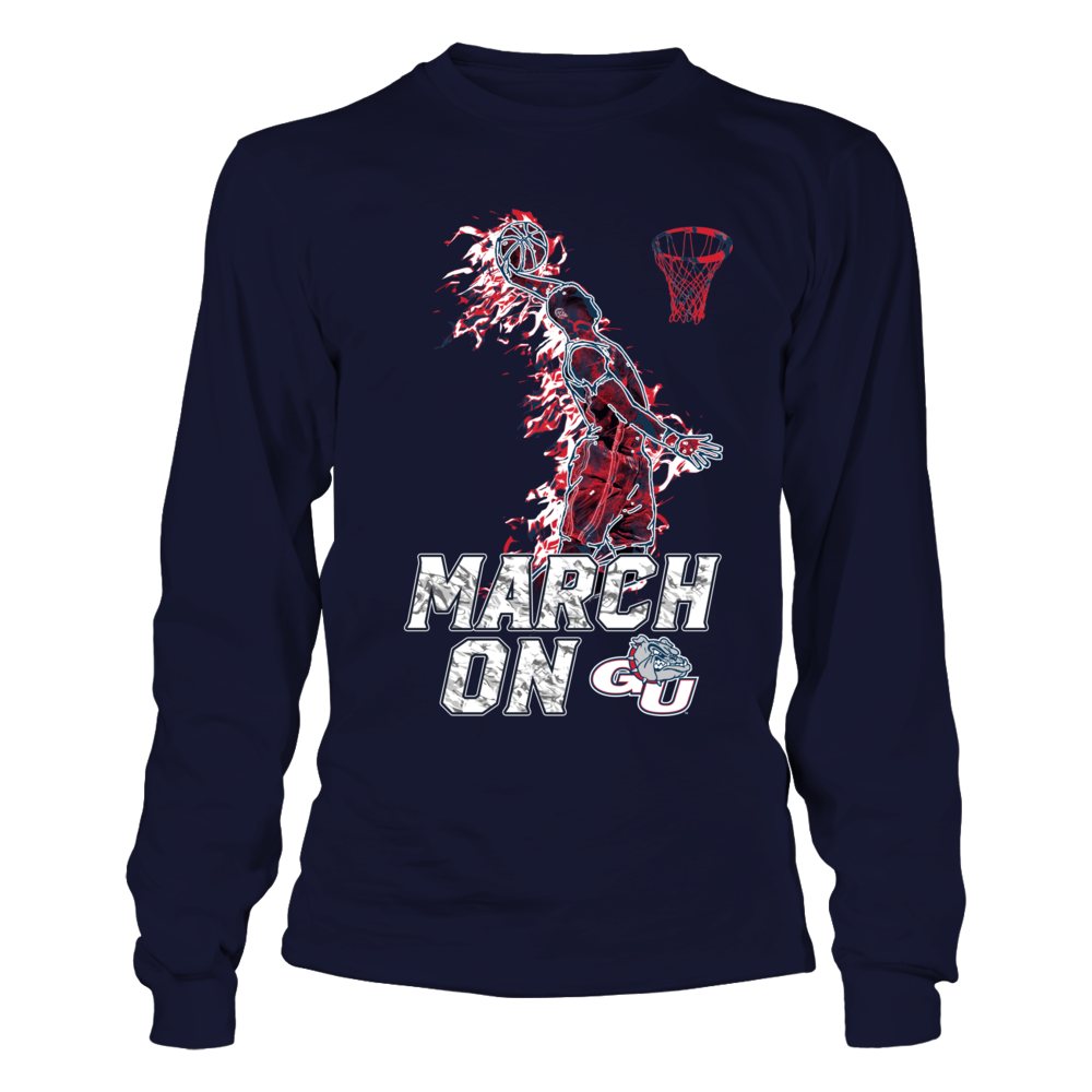 Gonzaga Bulldogs - March On - Basketball Player On Fire Front picture