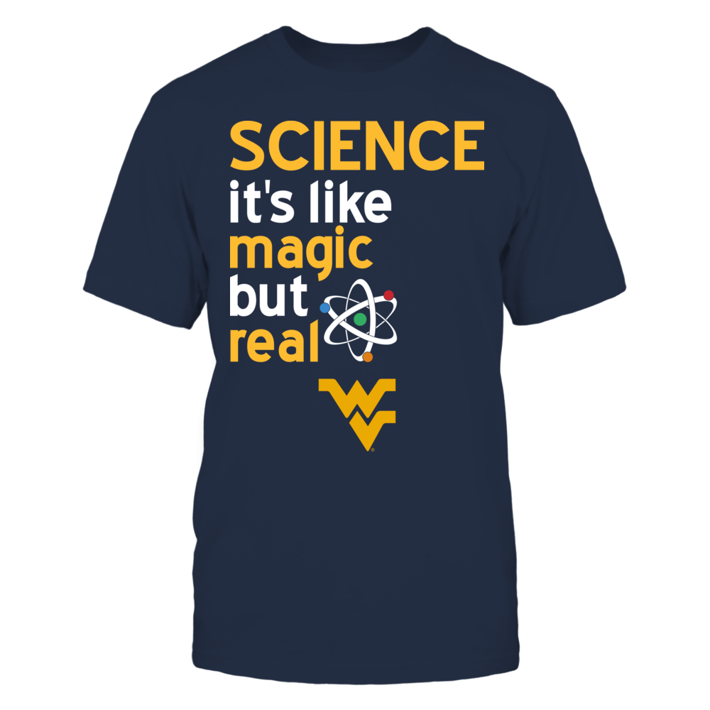 West Virginia Mountaineers - Science Lover - Magic But Real Front picture