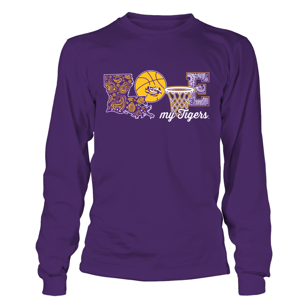 LSU Tigers - Love My Team - Basketball Front picture