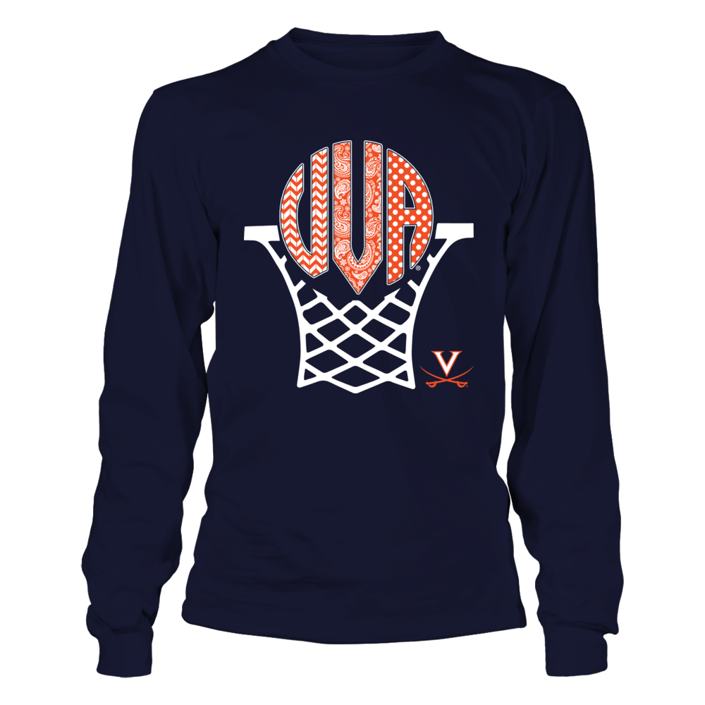 Virginia Cavaliers - Pattern Monogram - Basketball Hoop Front picture