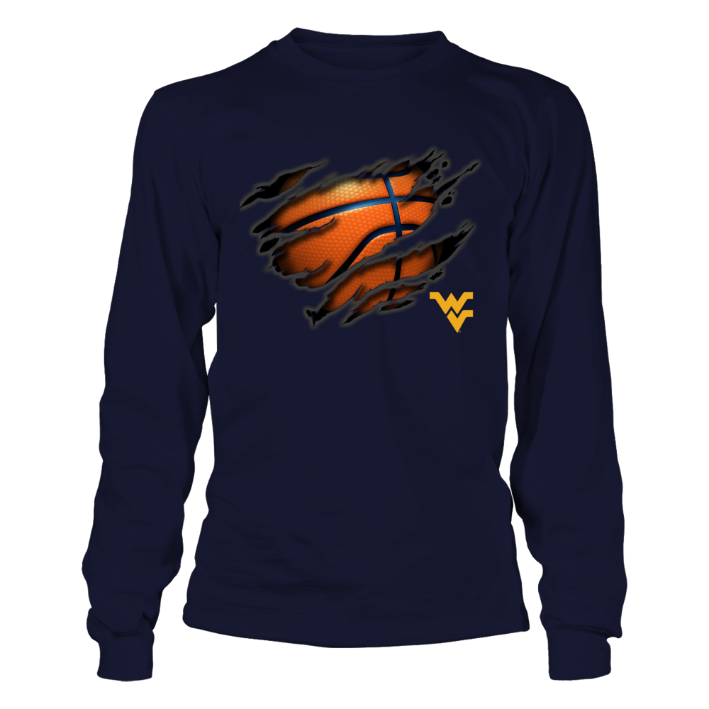 West Virginia Mountaineers - Tearing Basketball Front picture