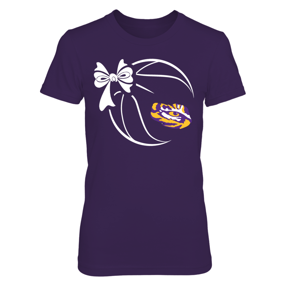 LSU Tigers - Basketball Ribbon Front picture