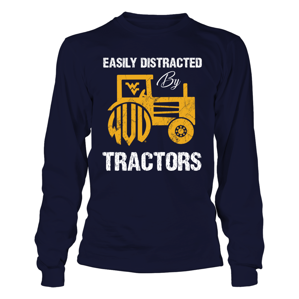 West Virginia Mountaineers - Easily Distracted By Tractors - Monogram Front picture