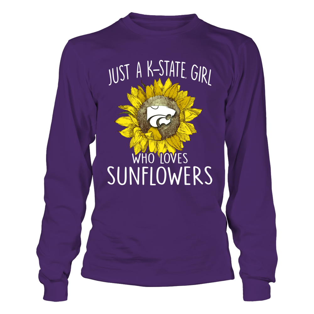 Kansas State Wildcats - Just A Girl Loves Sunflower Front picture