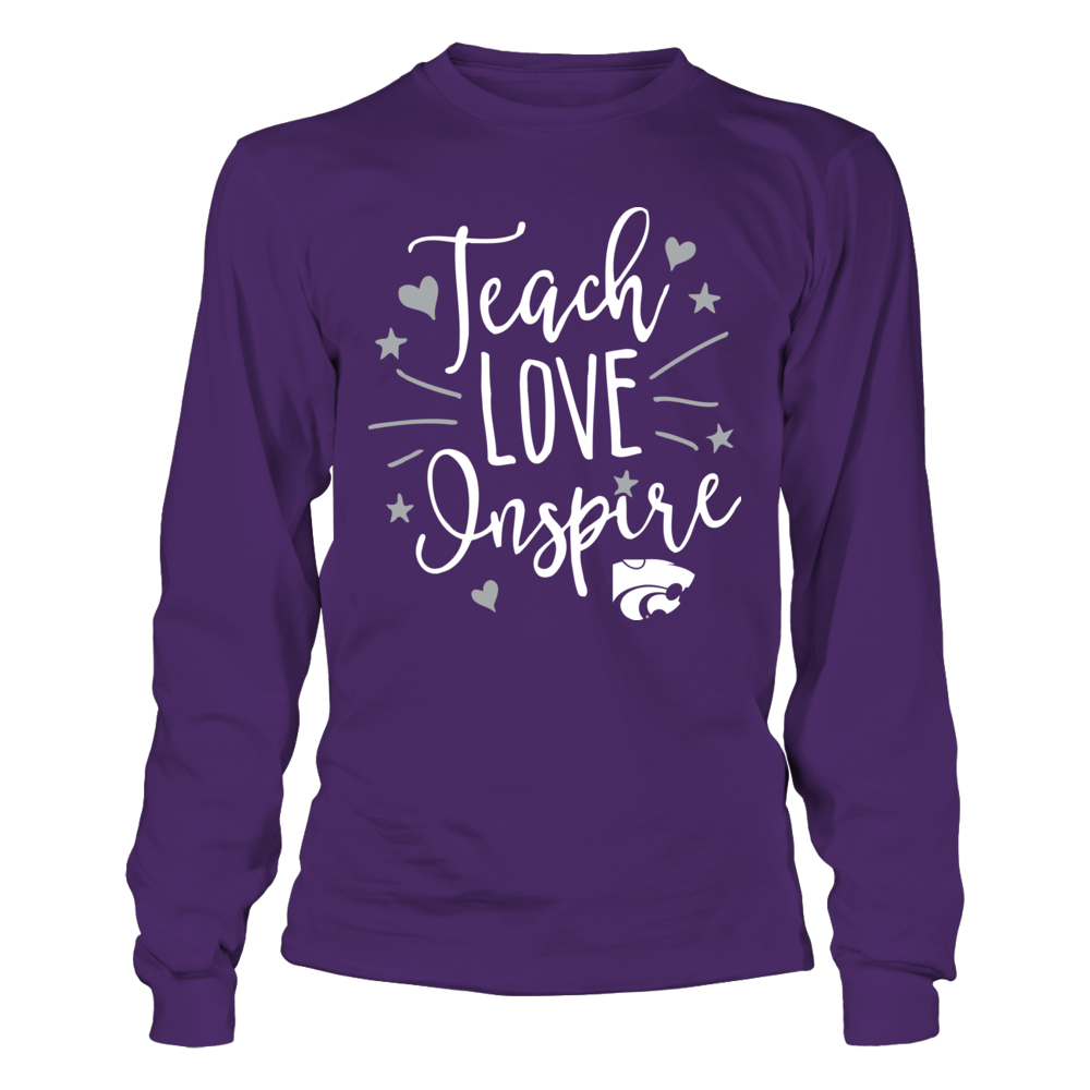 Kansas State Wildcats - Teacher - Teach Love Inspire Front picture