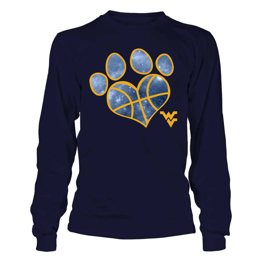 West Virginia Mountaineers - Heart Basketball Paw Front picture