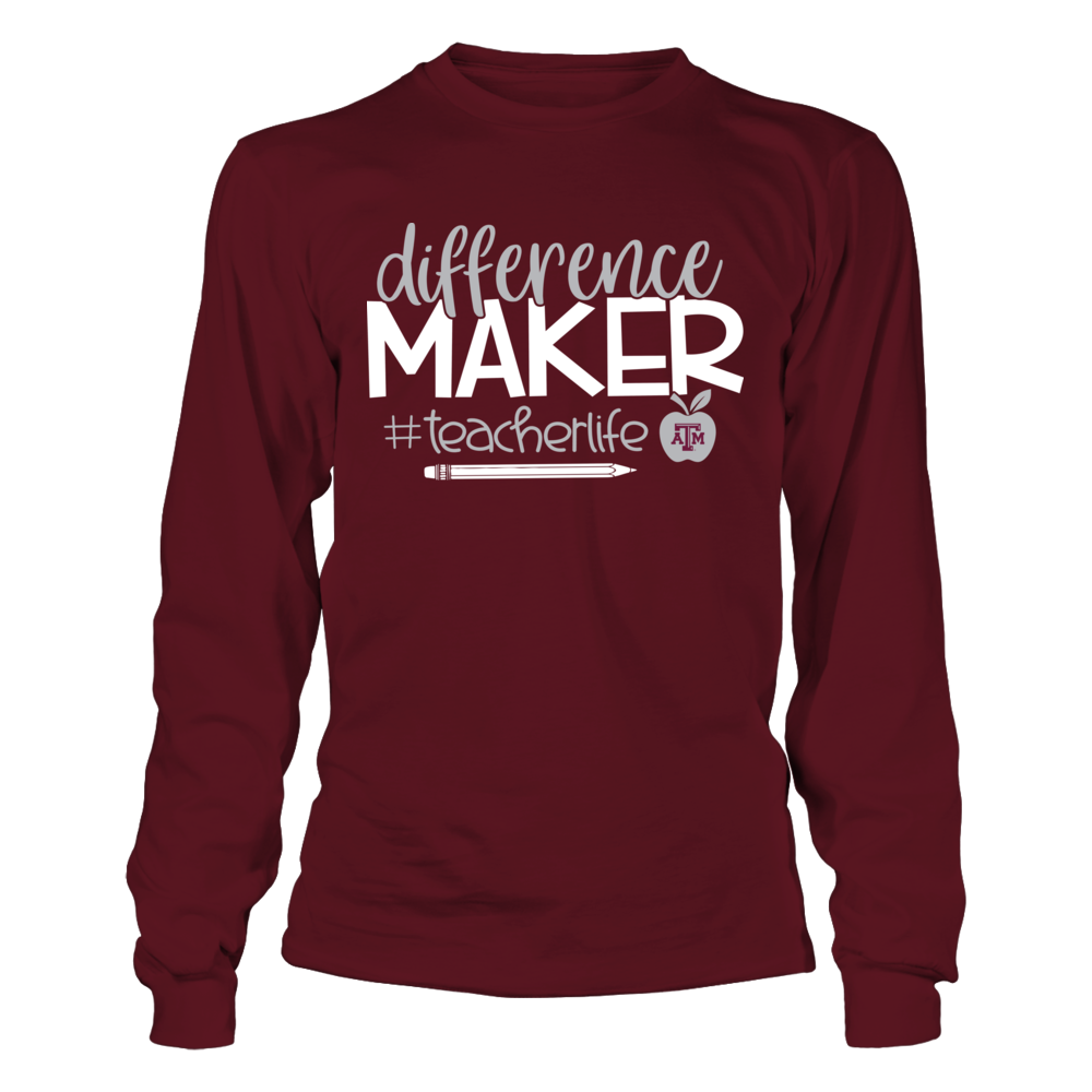 Texas A&M Aggies - Teacher - Difference Maker Front picture