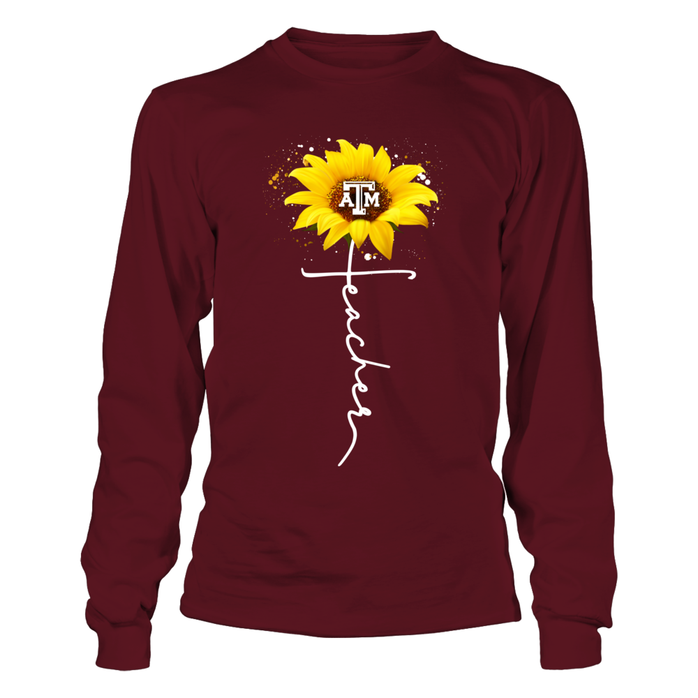 Texas A&M Aggies - Sunflower - Teacher In Cross Shape Front picture