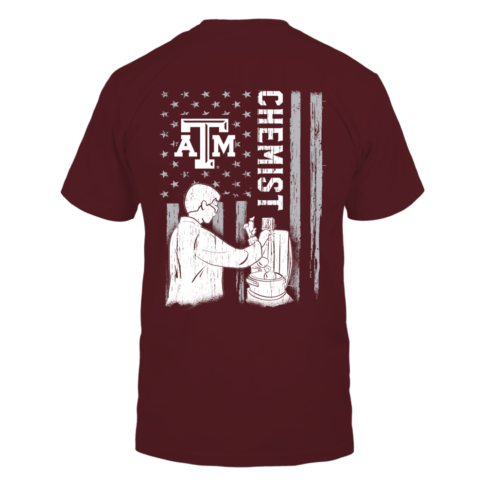 Texas A&M Aggies - Chemist - Chemist Inside Nation Flag Back picture