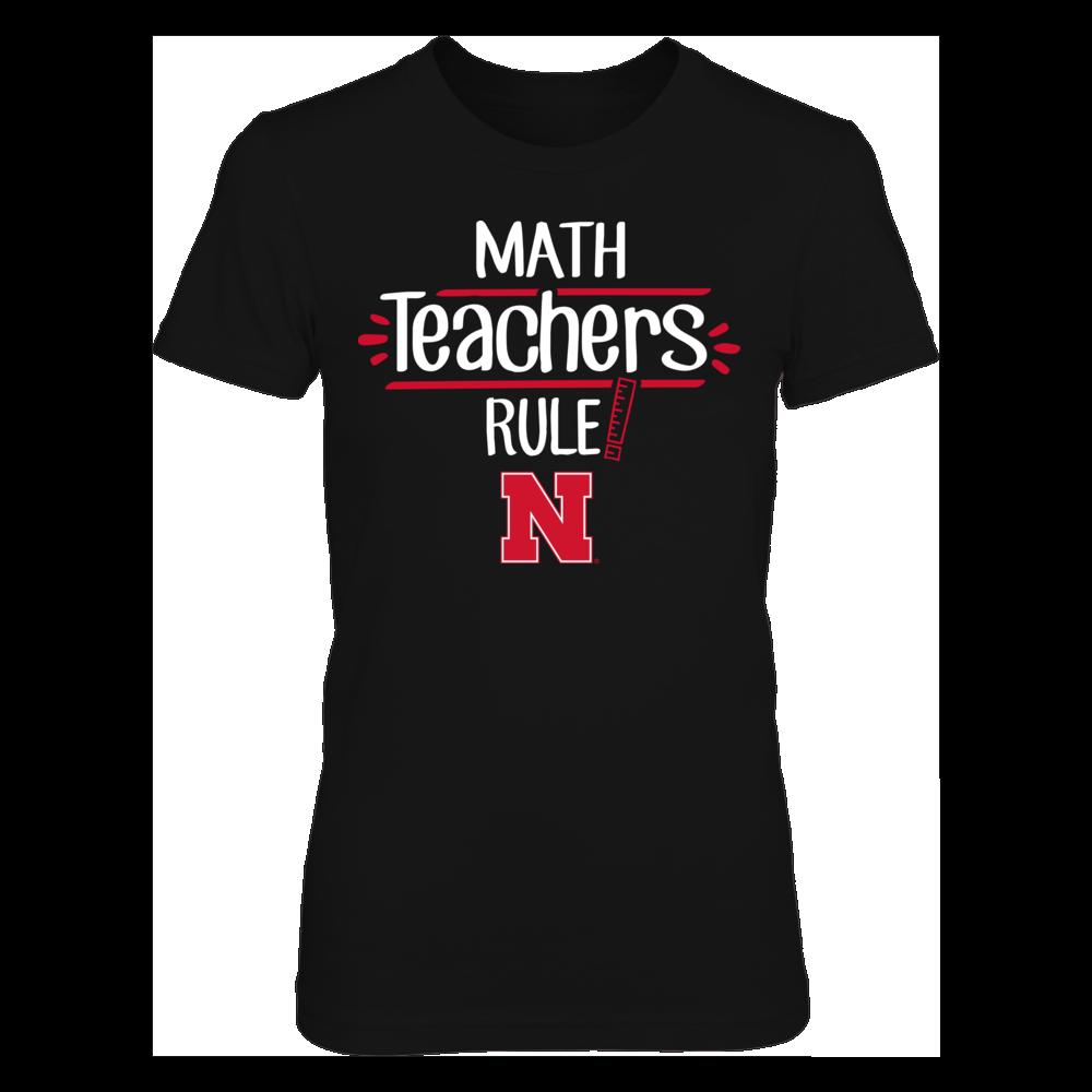 Nebraska Cornhuskers  - Math Teachers Rule Front picture