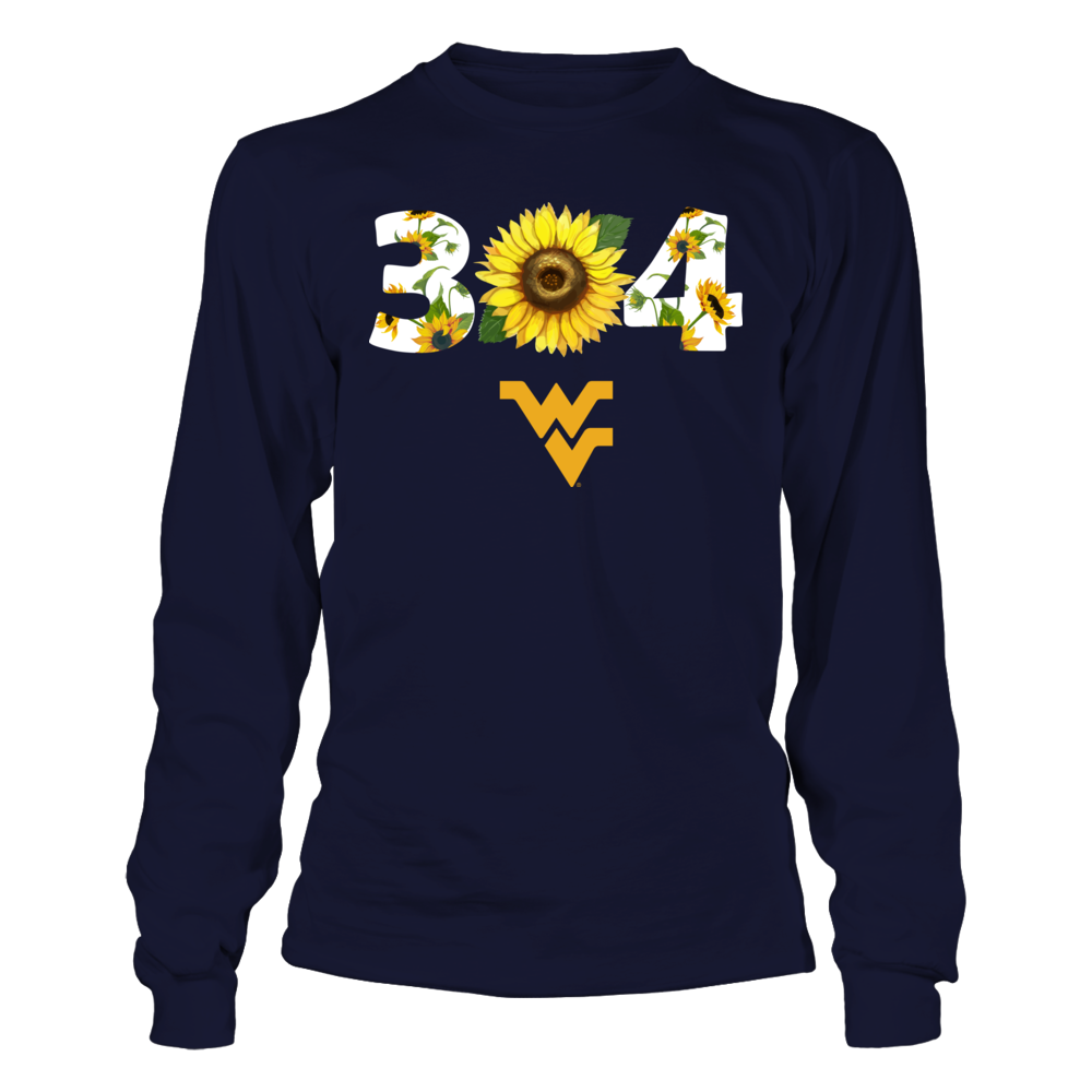 West Virginia Mountaineers - Sunflower Area Code - IF-IC13-DS64 Front picture