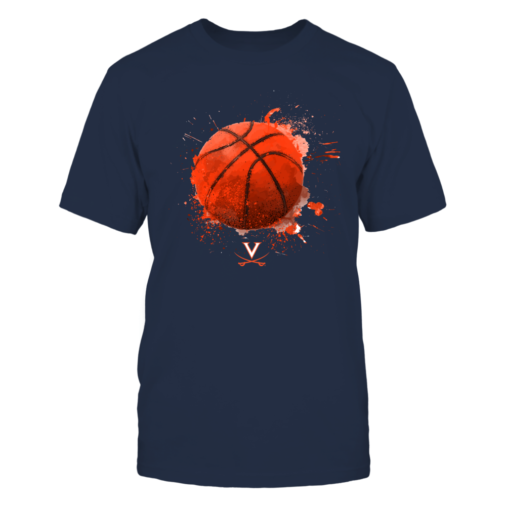 Virginia Cavaliers - Watercolor Basketball Front picture