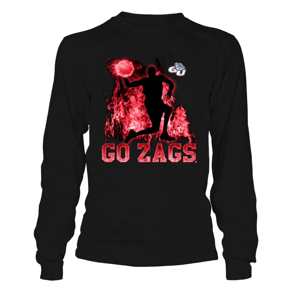 Gonzaga Bulldogs - Player Throwing Basketball On Fire Front picture