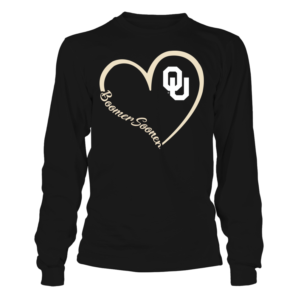 Oklahoma Sooners - Heart 3/4 Front picture