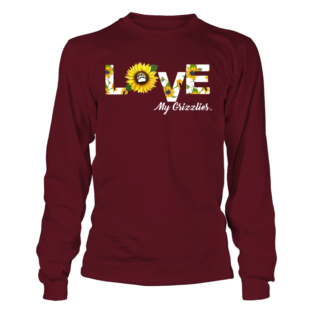 Montana Grizzlies - Love My Team - Sunflower Pattern Front picture
