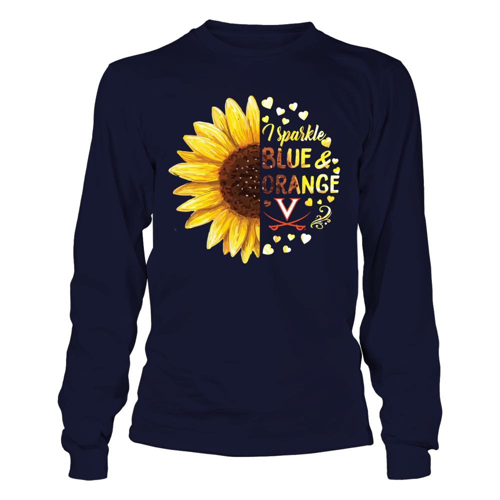 Virginia Cavaliers - Half Sunflower - I Sparkle Team Colors Front picture