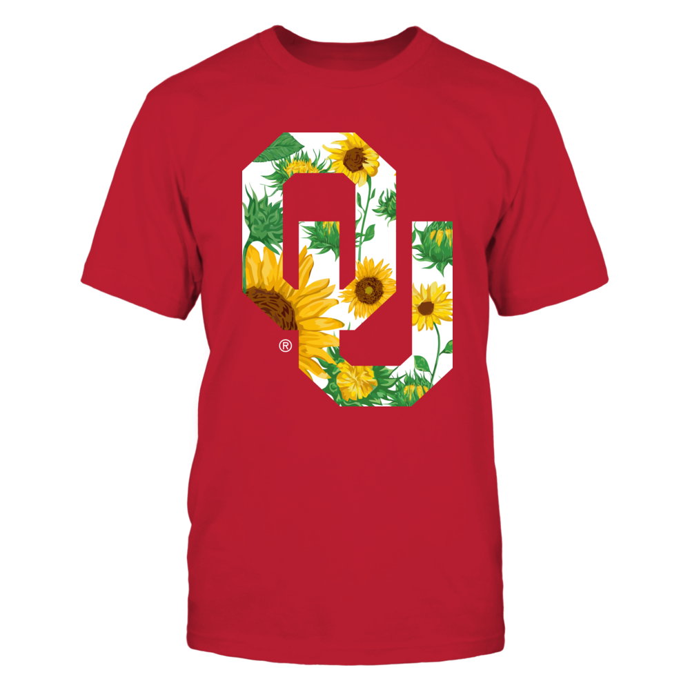 Oklahoma Sooners - Sunflower Logo Pattern Front picture