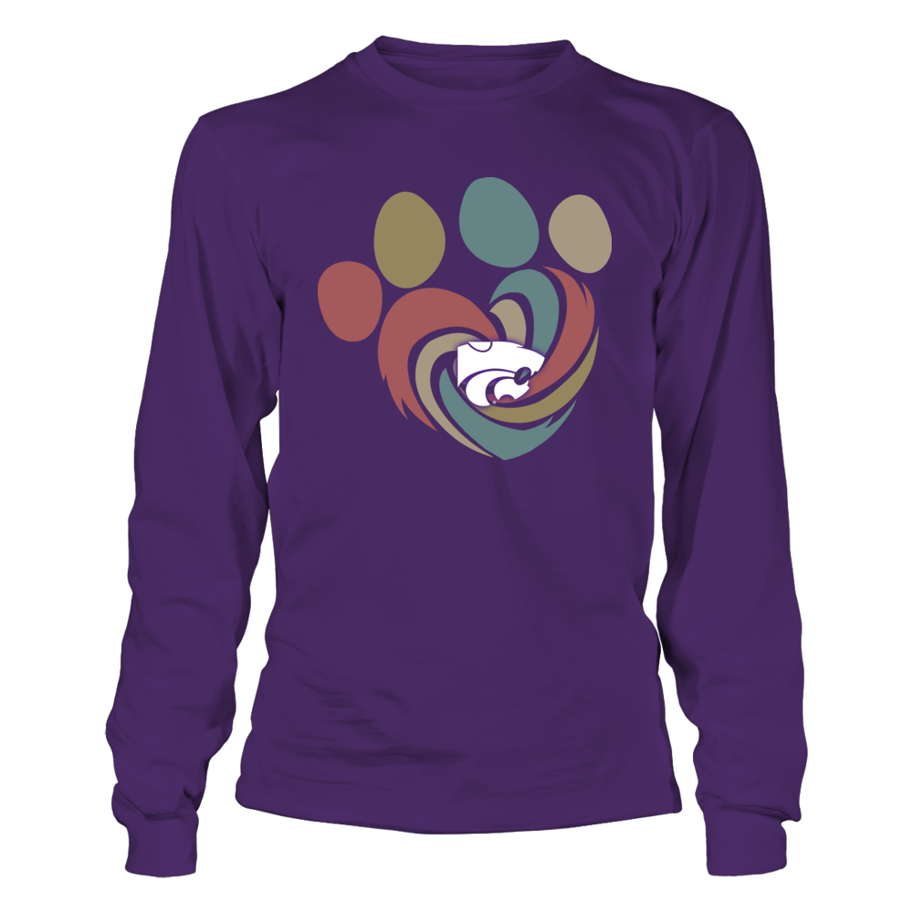 Kansas State Wildcats - Hurricane Heart Paw - Retro Style Front picture