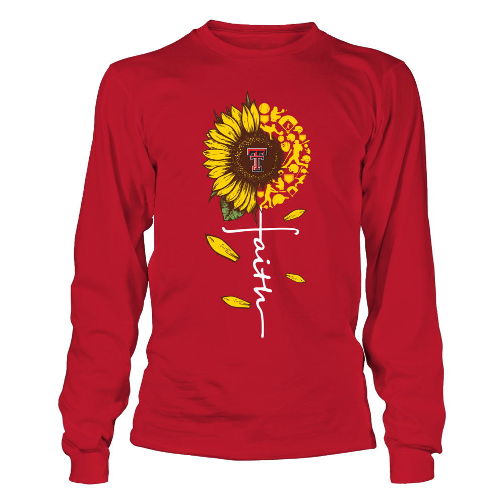 Texas Tech Red Raiders - Sunflower Of Things - Faith In Cross Shape - Baseball Front picture