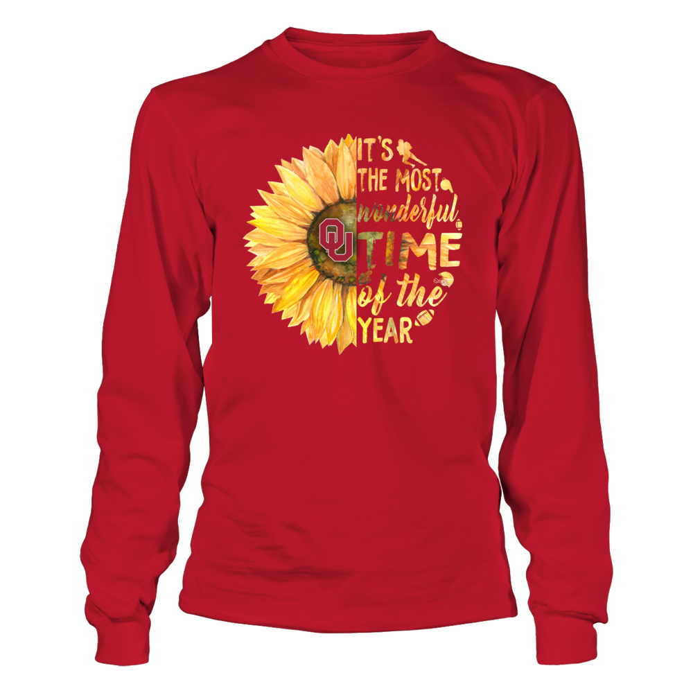 Oklahoma Sooners - Half Sunflower - Most Wonderful Time - Football Things Front picture