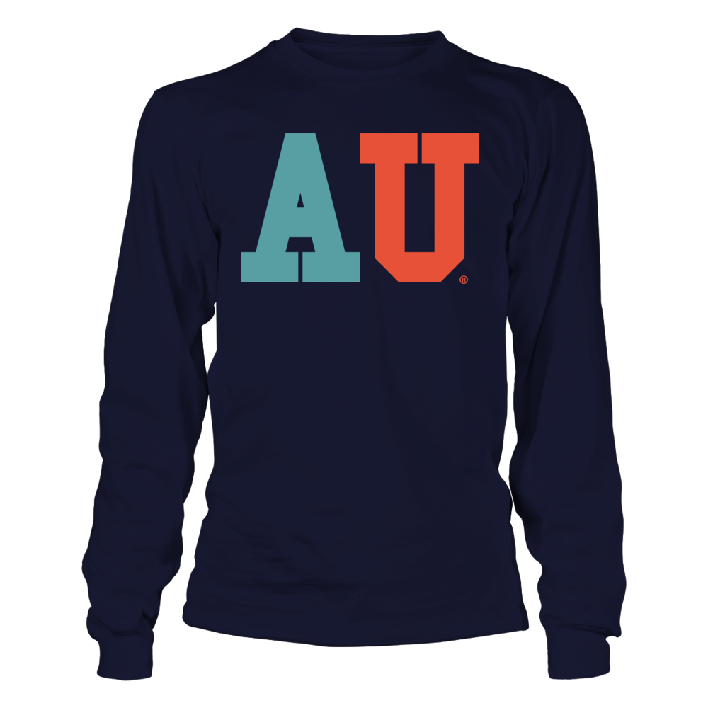 Auburn Tigers - Patterned Letter Retro Style - Logo Front picture