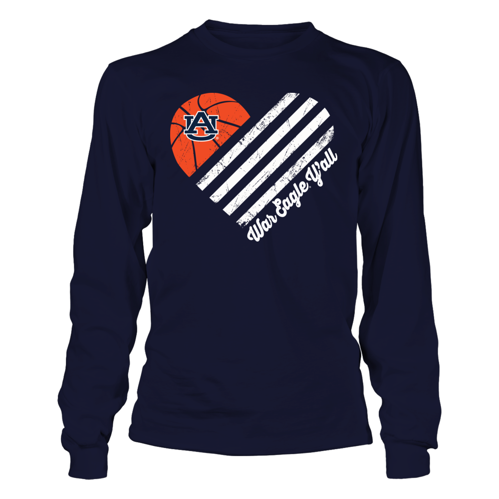 Auburn Tigers - Basketball Flag Heart Front picture