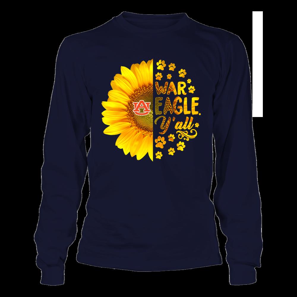 Auburn Tigers - Half Sunflower - Team Slogan - Paw Front picture
