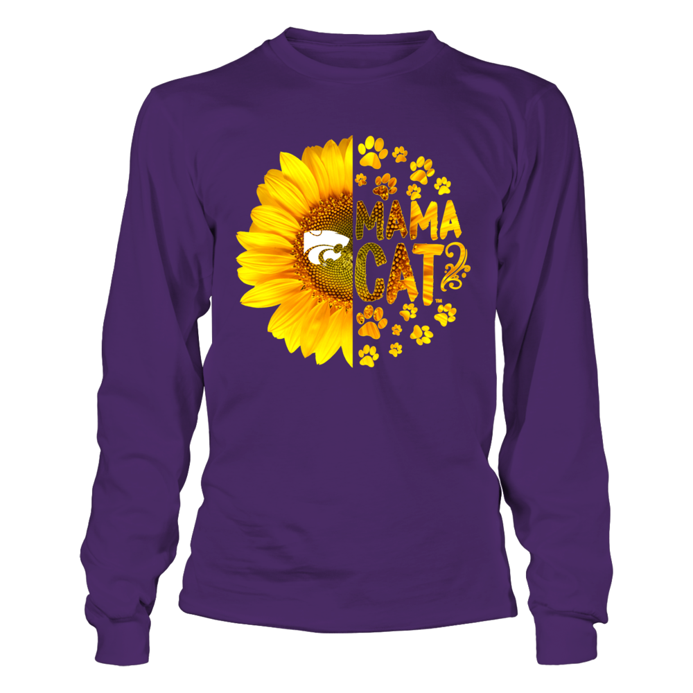 Kansas State Wildcats - Half Sunflower - Mama Mascot - Paw Front picture