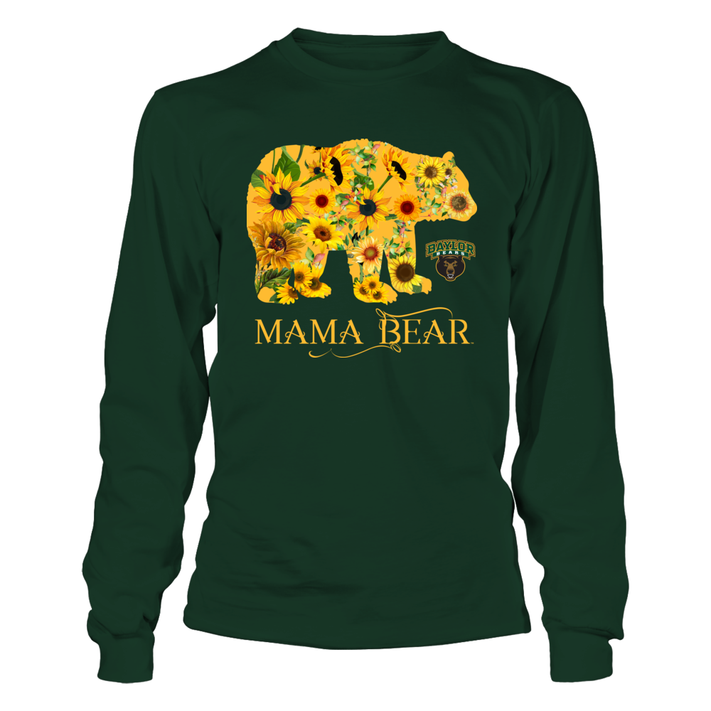 Baylor Bears - Mama Mascot - Sunflower Pattern Front picture