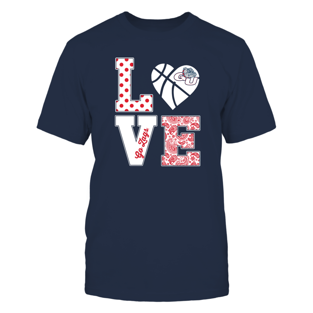 Gonzaga Bulldogs - Stacked Love - Basketball Heart Front picture