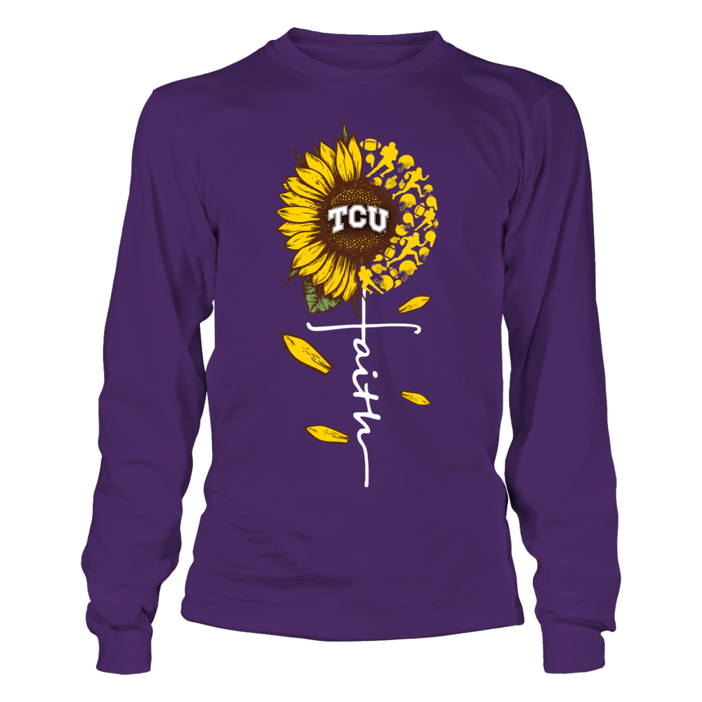 TCU Horned Frogs - Sunflower Of Things - Faith In Cross Shape - Football Front picture
