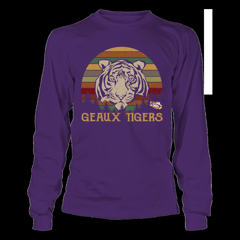 LSU Tigers - Team Slogan - Mascot - Tiger - Retro Style Front picture