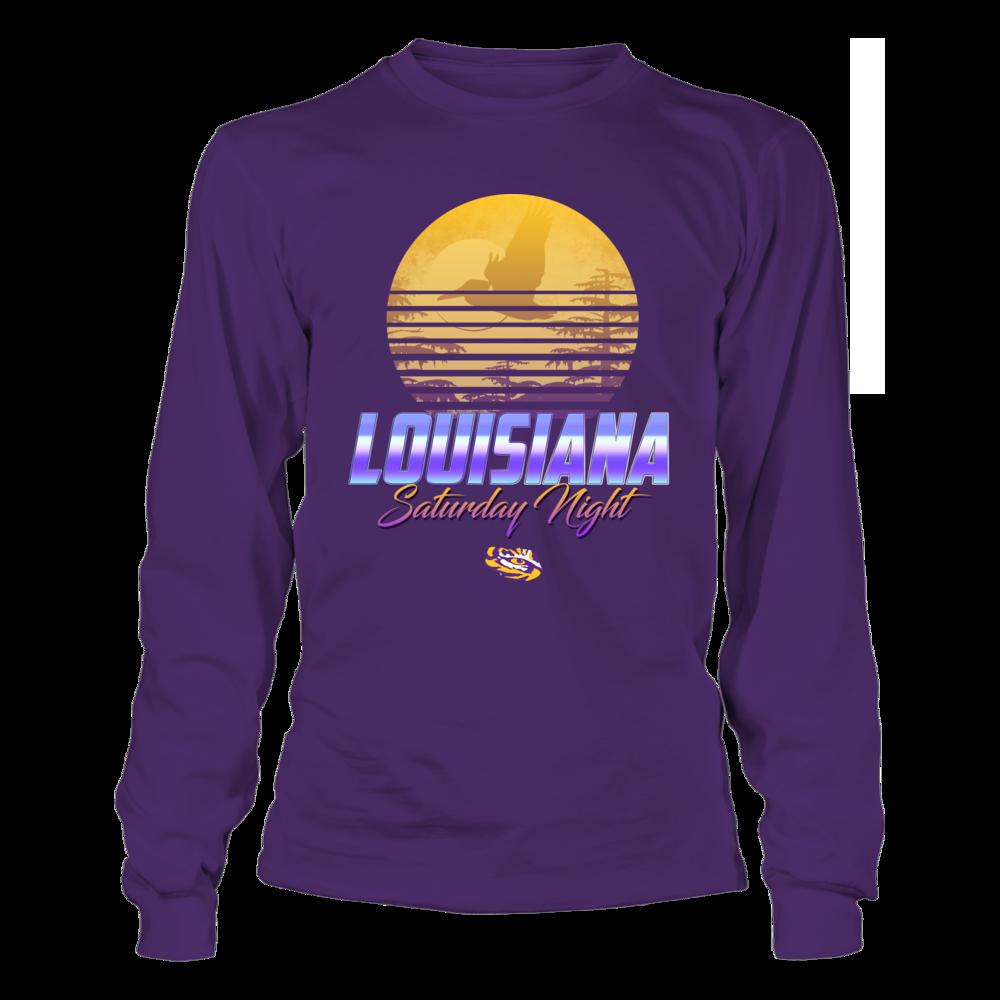 LSU Tigers - Louisiana Saturday Night - Sunset Retro Style Front picture