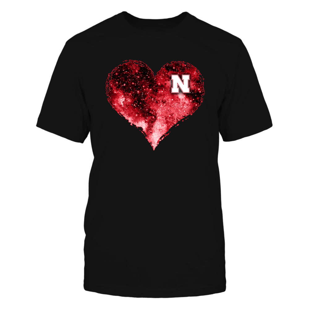 Nebraska Cornhuskers - Mysterious Galaxy Heart Front picture