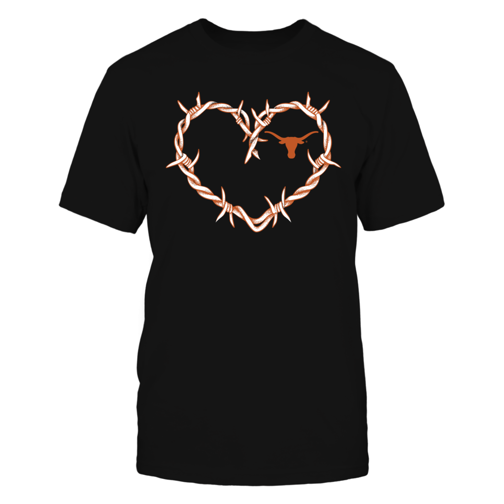 Texas Longhorns - Barbed Wired Heart Ver 2 Front picture