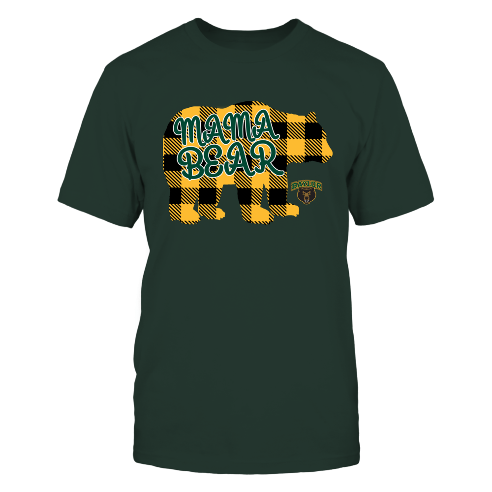 Baylor Bears - Mama Bear - Checkered Patterned Front picture