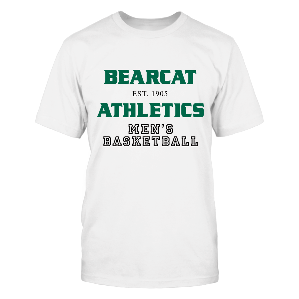 BEARCAT ATHLETICS EST. 1905 MEN'S BASKETBALL Front picture