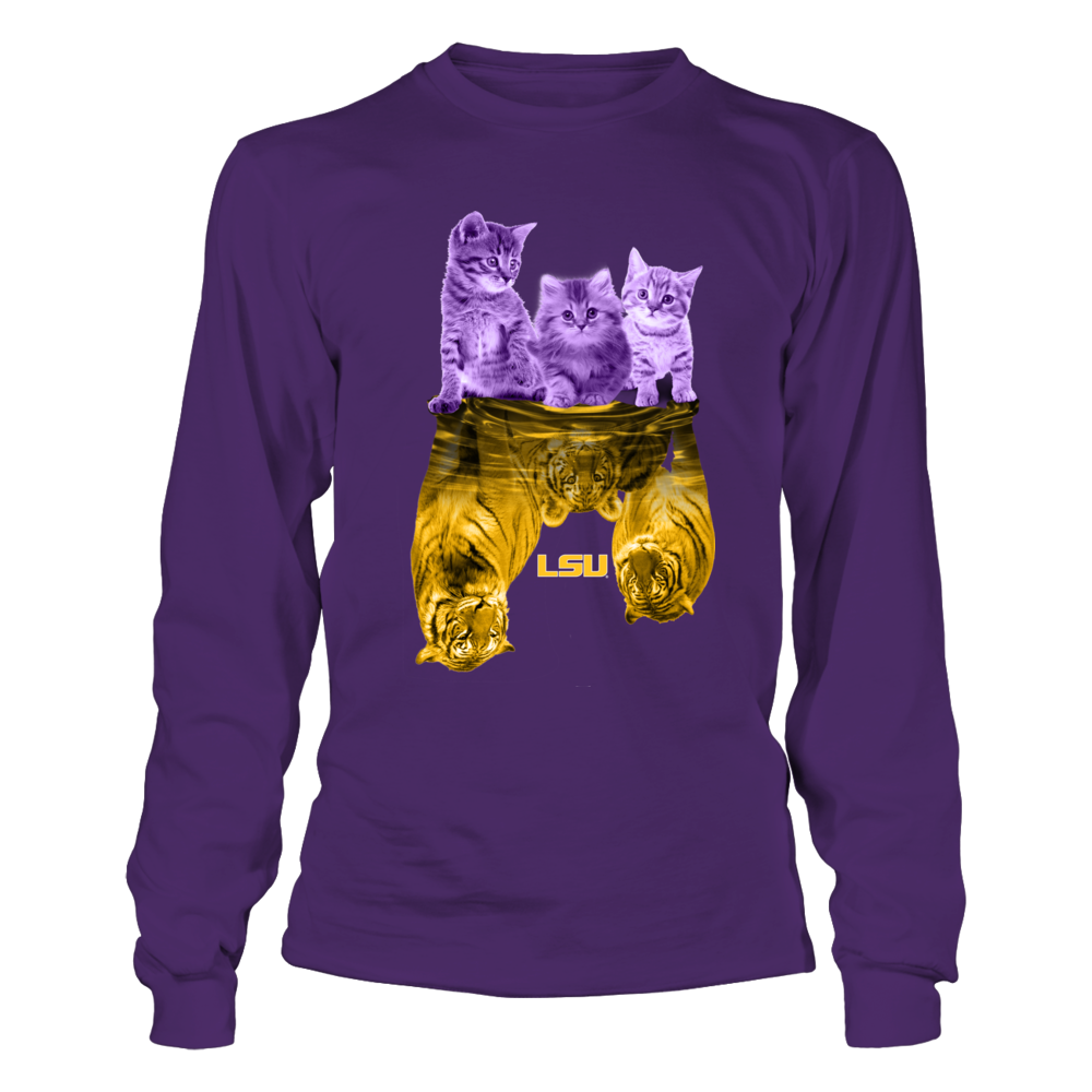 LSU Tigers - Cats And Tigers Reflection Front picture