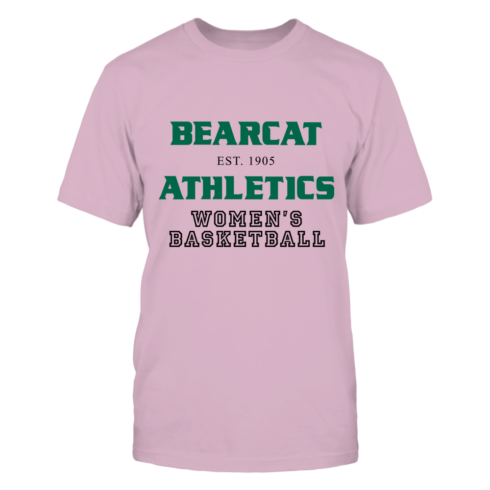 BEARCAT ATHLETICS EST. 1905 WOMEN'S BASKETBALL Front picture