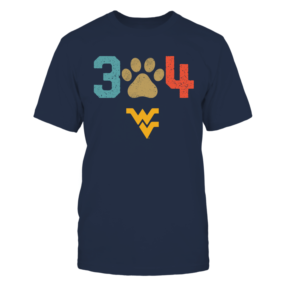 West Virginia Mountaineers - Area Code - Paw - Retro Style Front picture