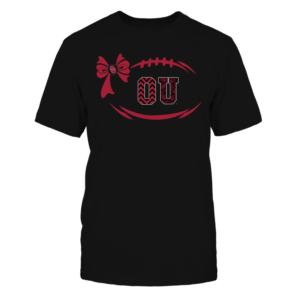 Oklahoma Sooners - Football Bow Patterned Letter Front picture