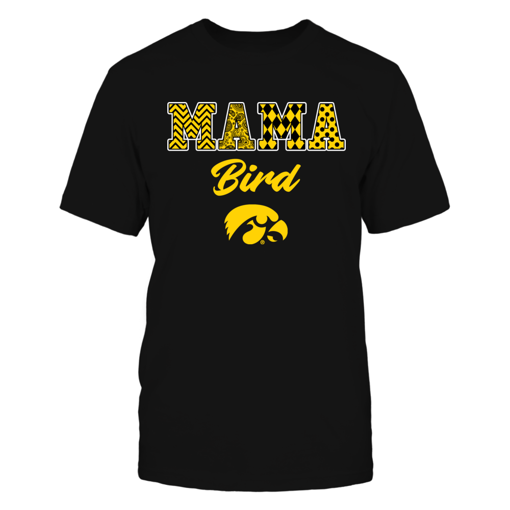 Iowa Hawkeyes - Patterned Letters - Mama Mascot Front picture