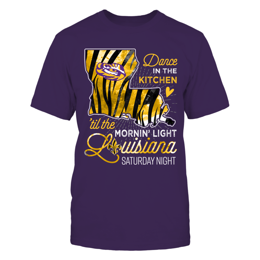LSU Tigers - Louisiana Saturday Night - Tiger Stripe State Map - IF-IC13-DS75 Front picture