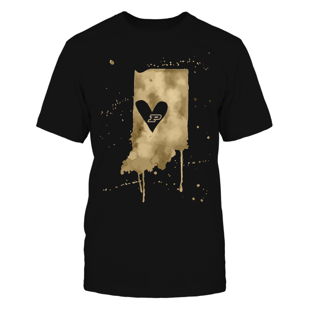 Purdue Boilermakers - Color Drop State Map Heart  - IF-IC32-DS75 Front picture