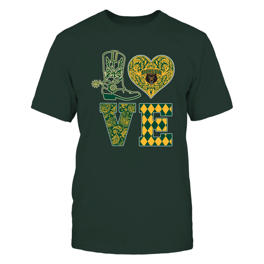 Baylor Bears - Love Boot Lace Heart Front picture