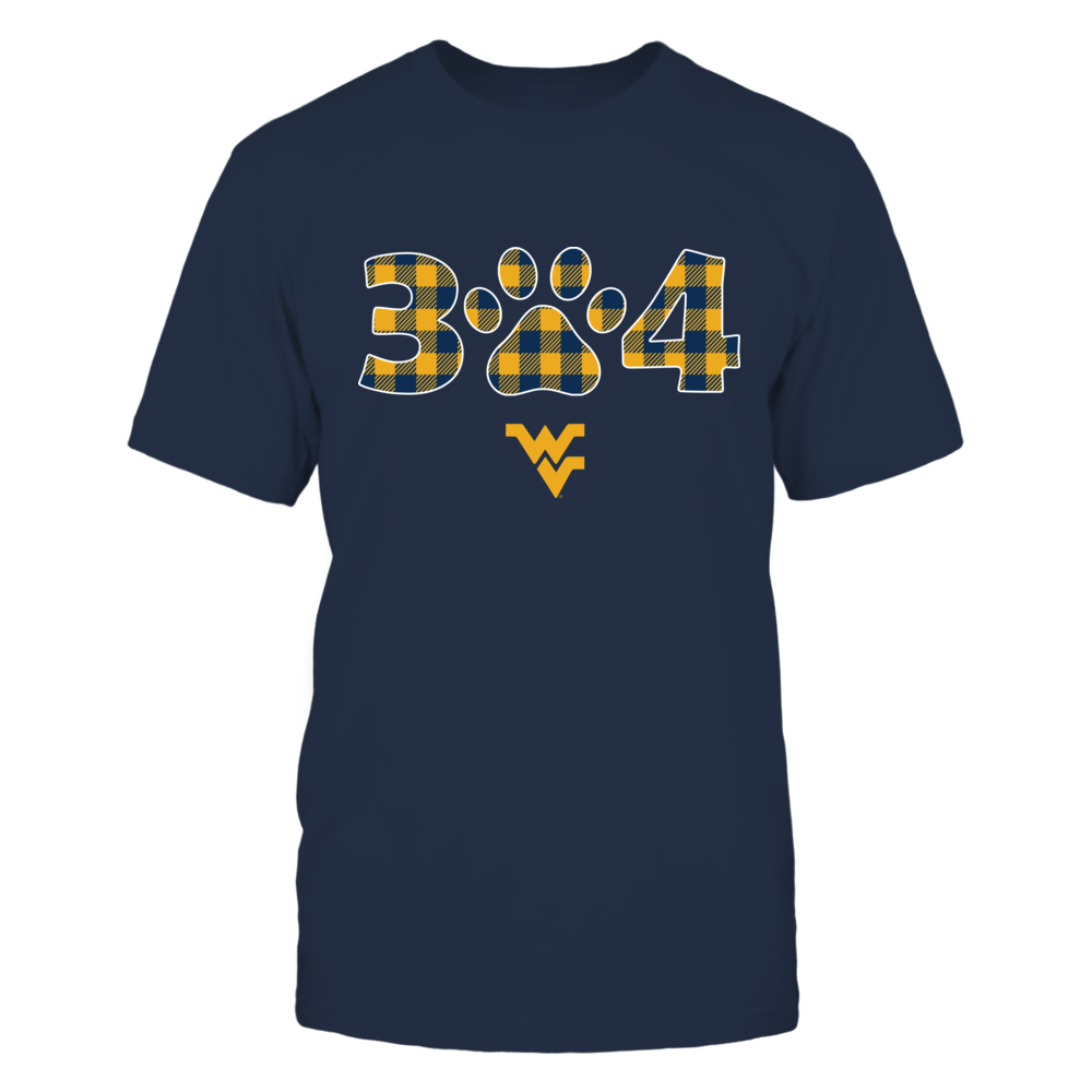 West Virginia Mountaineers - Area Code - Checkered Pattern Front picture