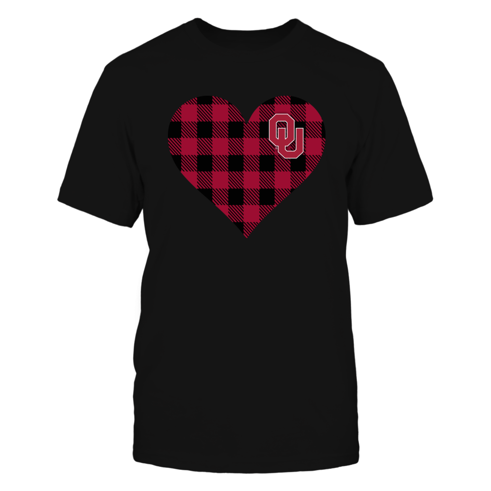 Oklahoma Sooners - Checkered Heart Logo Front picture