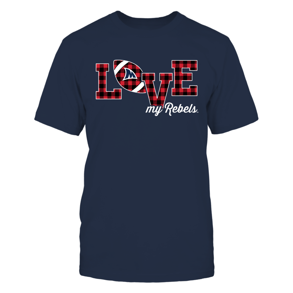 Ole Miss Rebels - Love My Team - Football - Checked Pattern Front picture