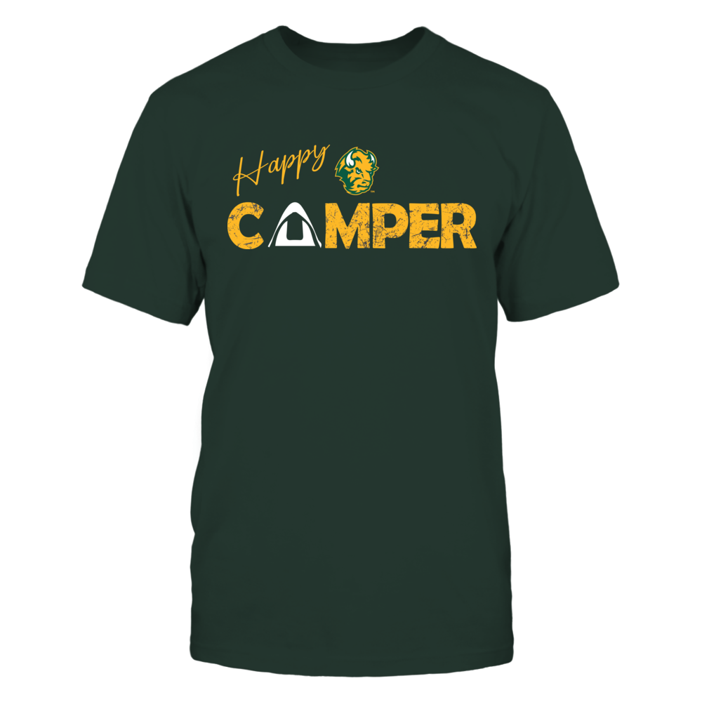 North Dakota State Bison - Camping - Happy Camper - Tent Front picture
